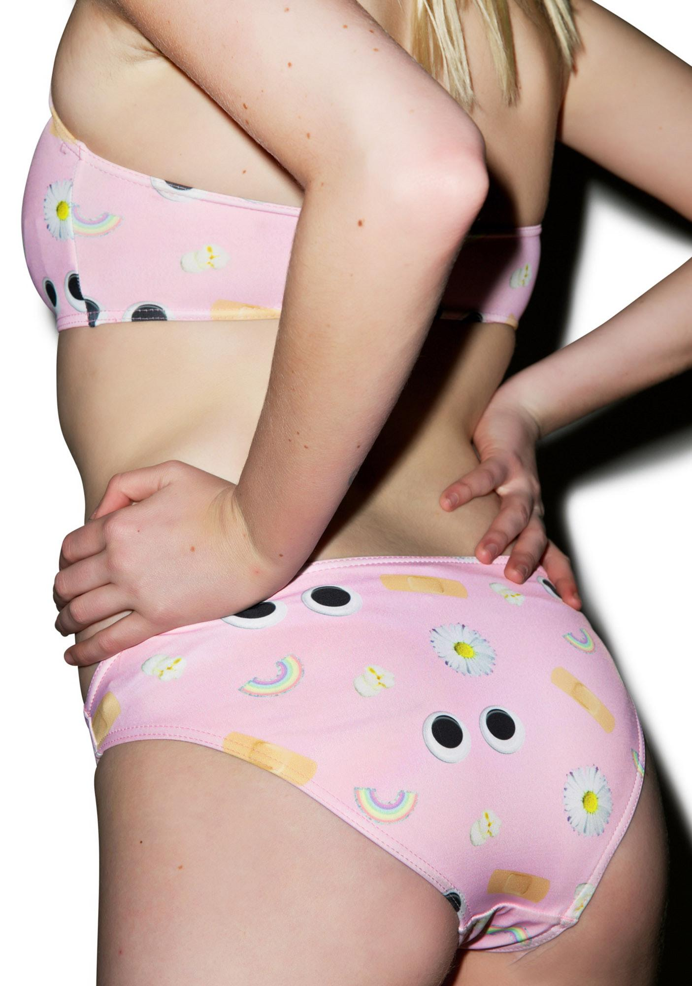 Local Heroes Pink Pattern Bikini Set