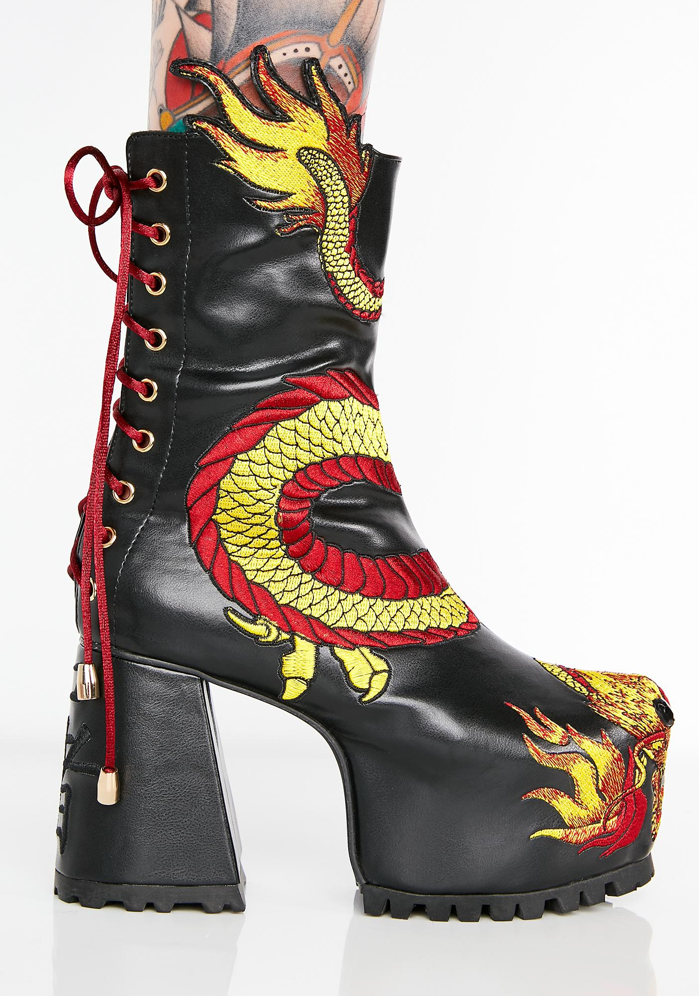 Current Mood Mother Of Dragons Platform Boots