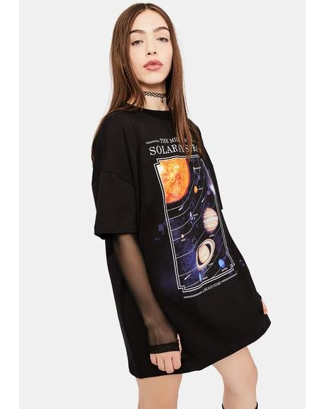 The Longest Night Planets Graphic Tee