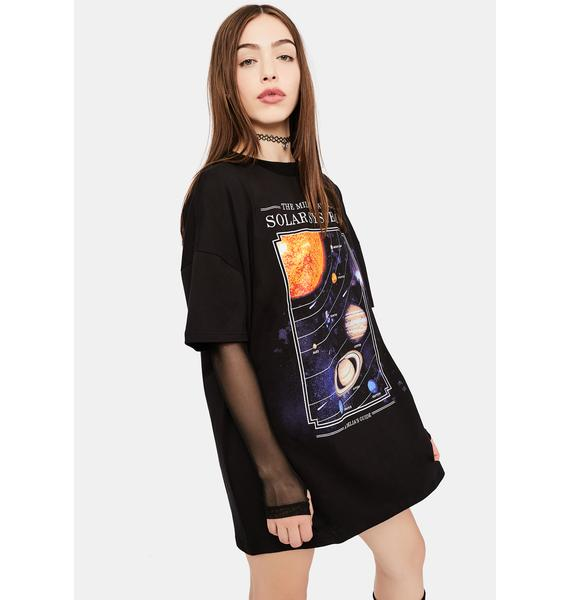 dELiA*s by Dolls Kill The Longest Night Planets Graphic Tee