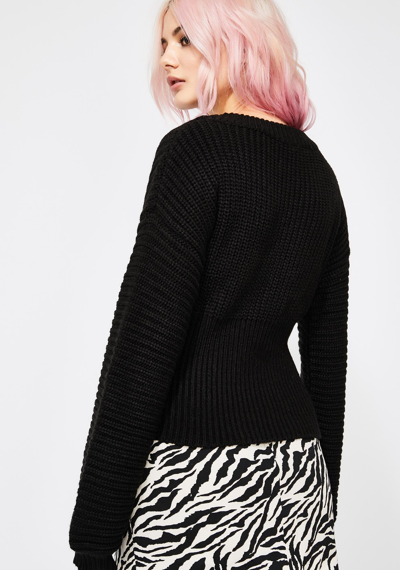 Laced Up Corset Sweater
