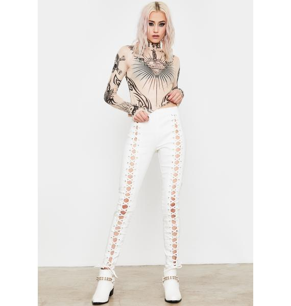 Current Mood Pure Damned Darling Lace-Up Jeggings