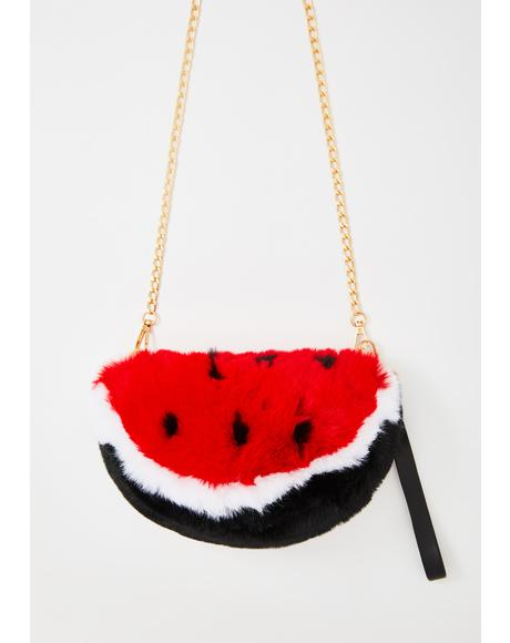 Juicy Treat Fuzzy Crossbody