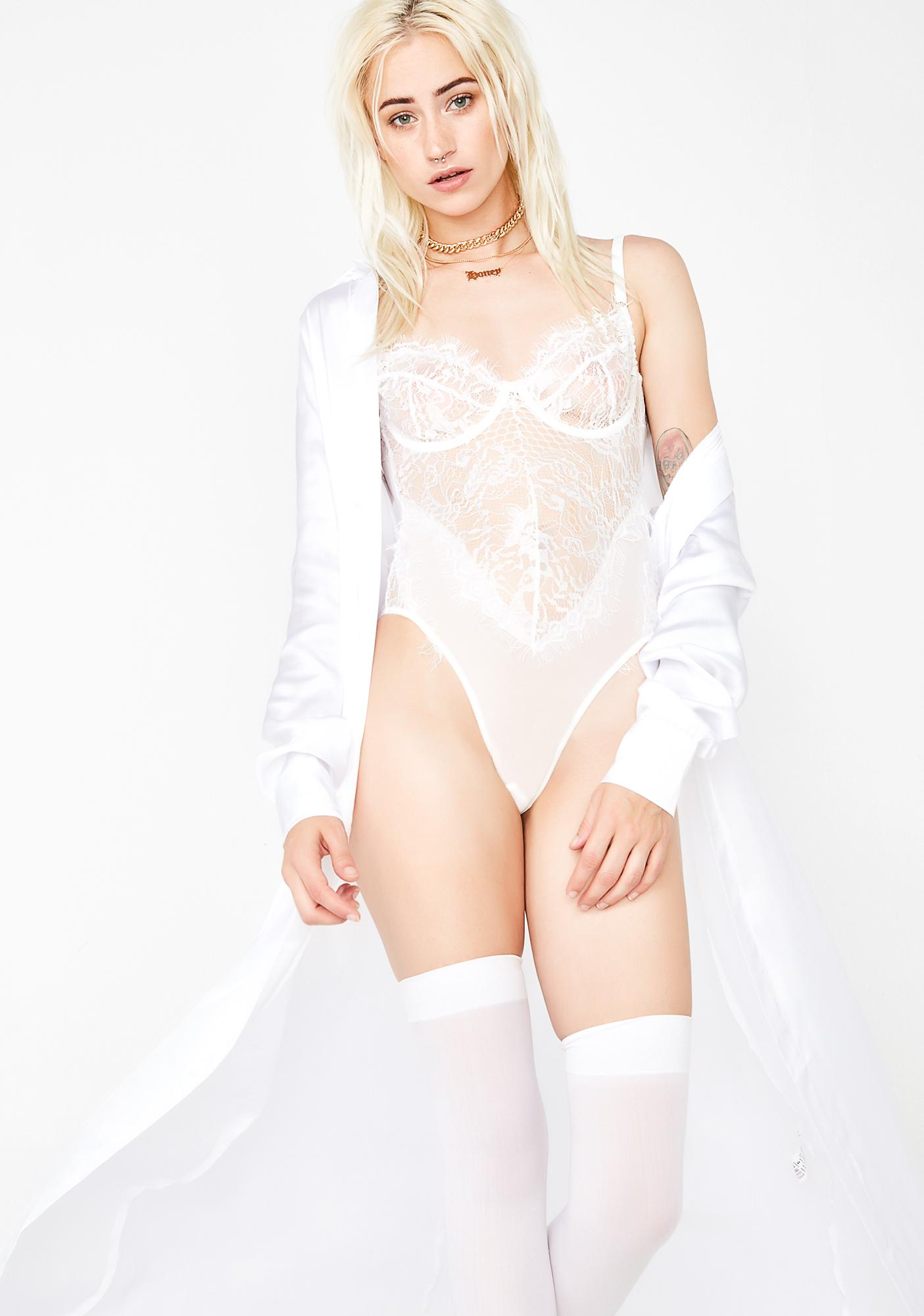 Pure Steamy Nights Lace Bodysuit