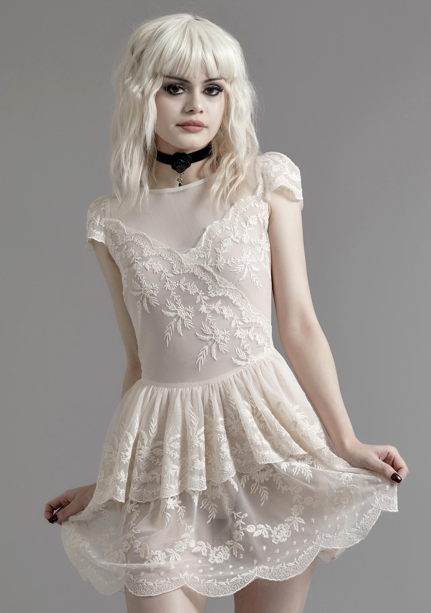 Widow Twisted Tea Party Lace Dress