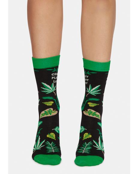 Crazy Plant Lady Crew Socks