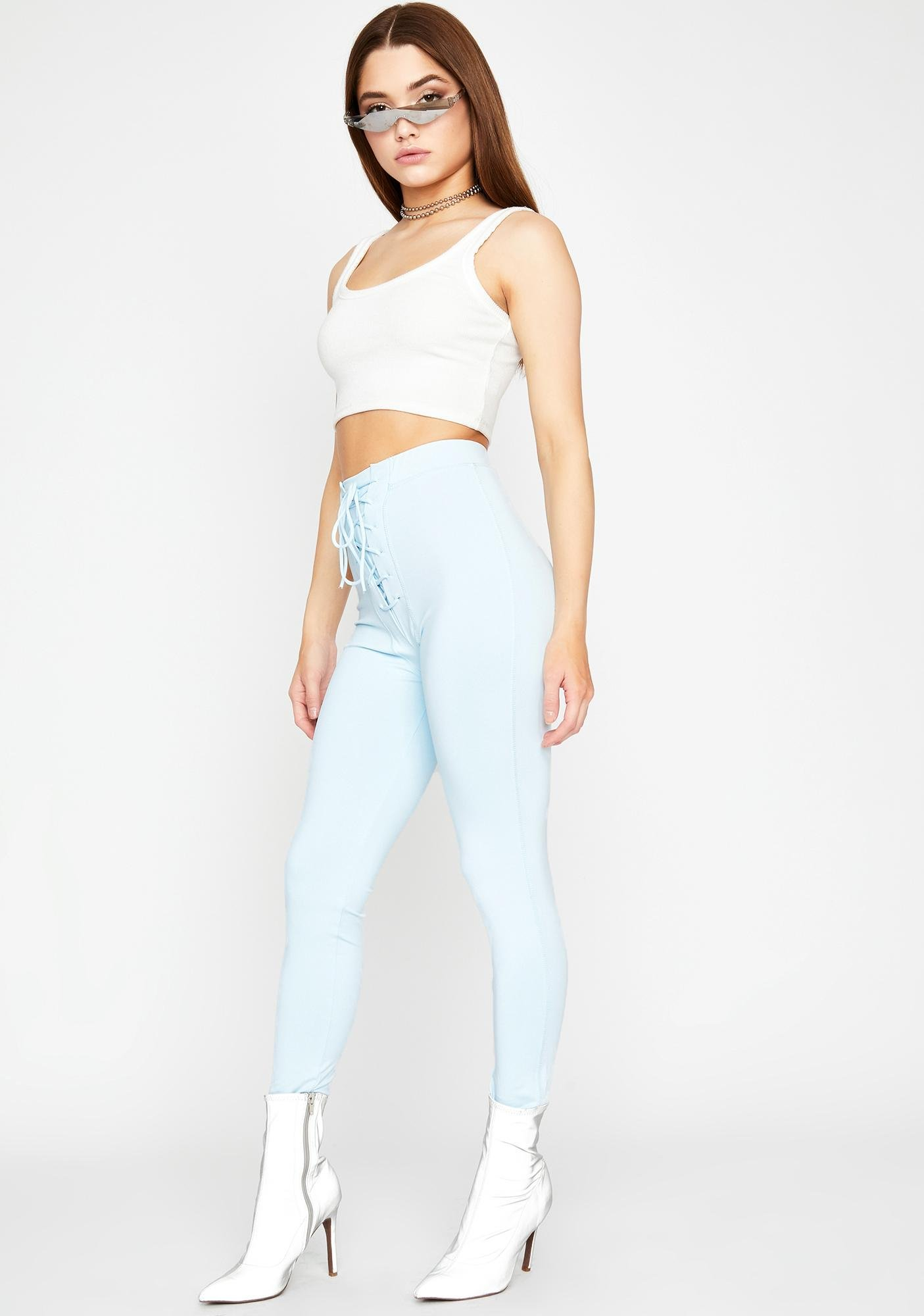 Sky On My Side Lace Up Leggings