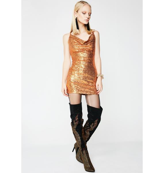 Spendin' Coins Mini Dress