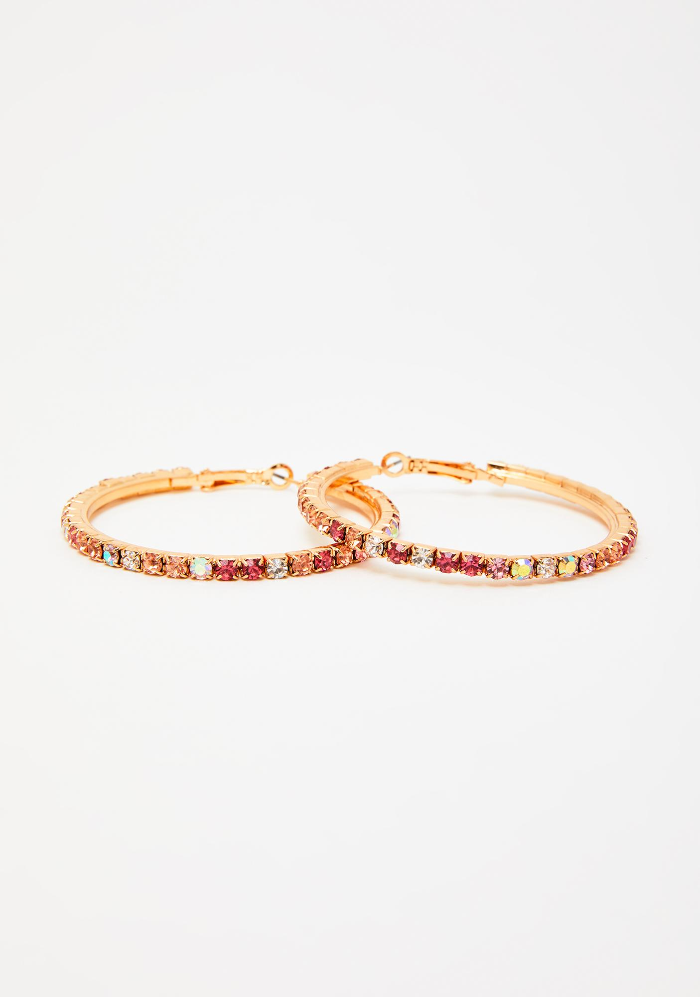 Candy Bling Hoop Earrings