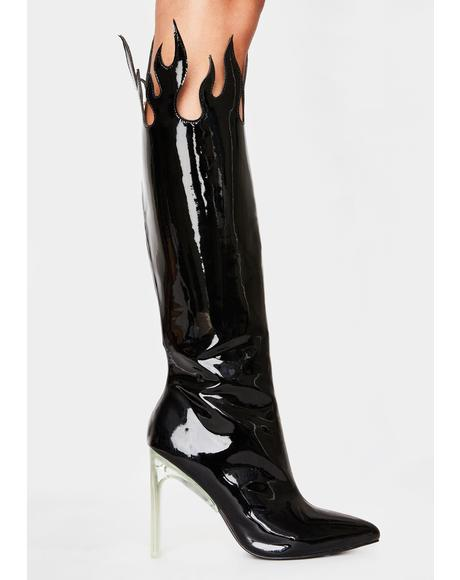 Up In Smoke Flame Boots