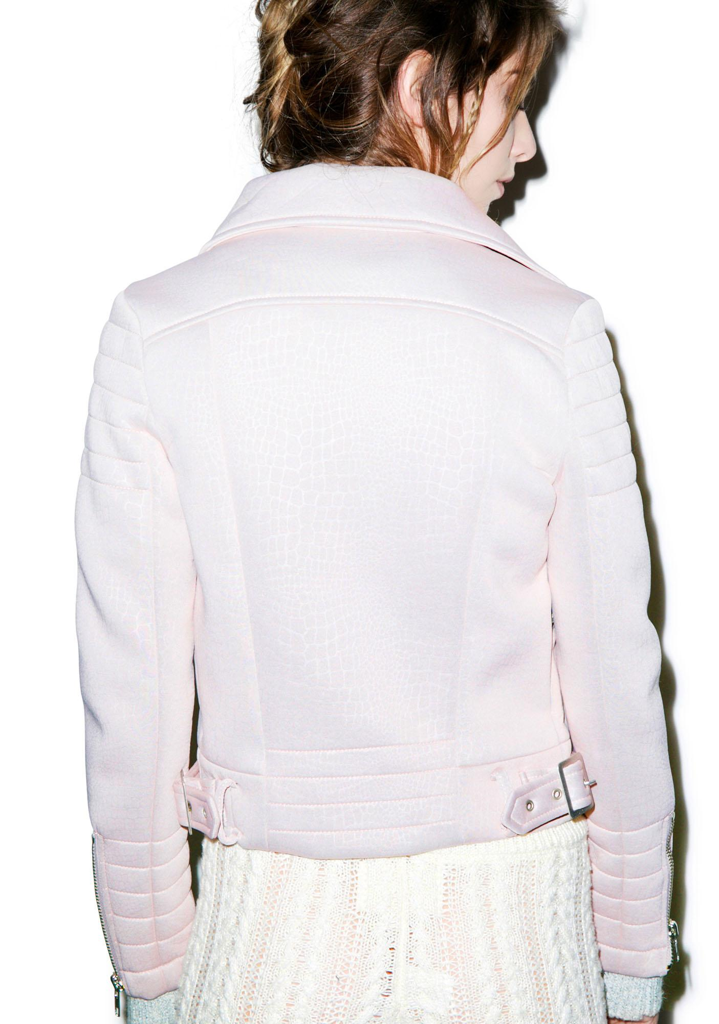 Glamorous Later Gator Biker Jacket