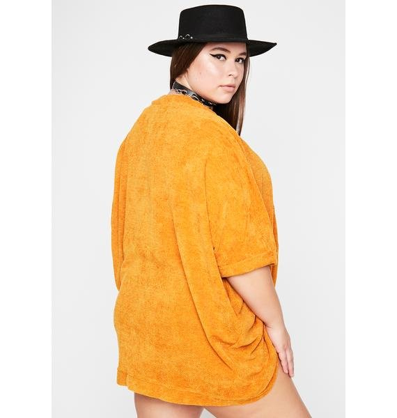 Her Sly Retreat Terry Cardigan