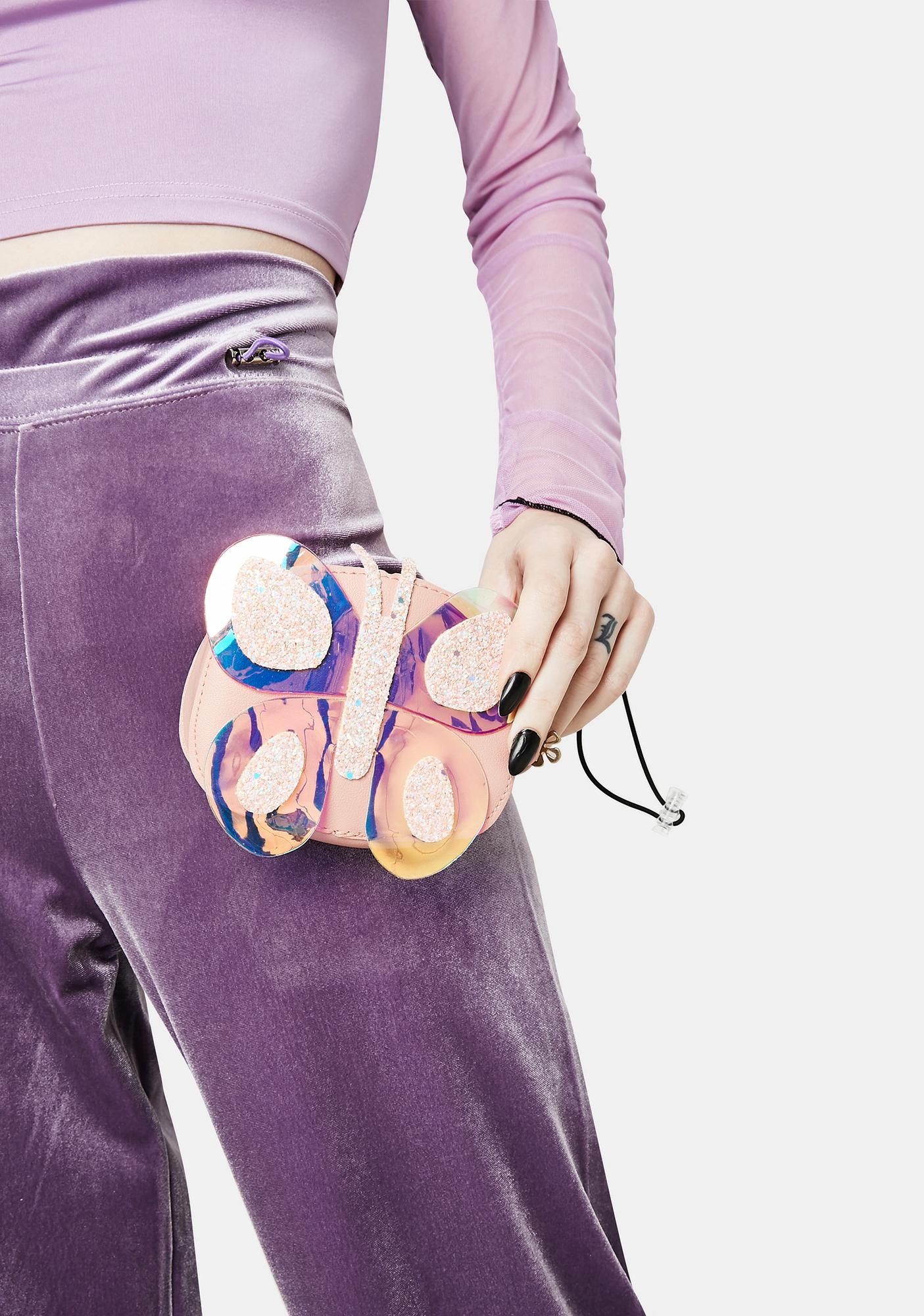 Fly With Me Iridescent Butterfly Bag