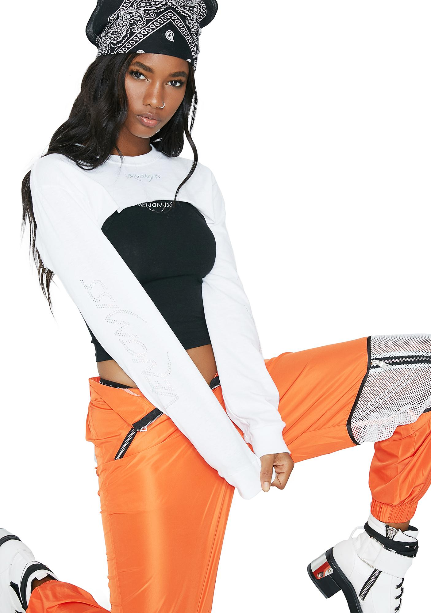 Venomiss NYC Super Cropped Long Sleeve Tee