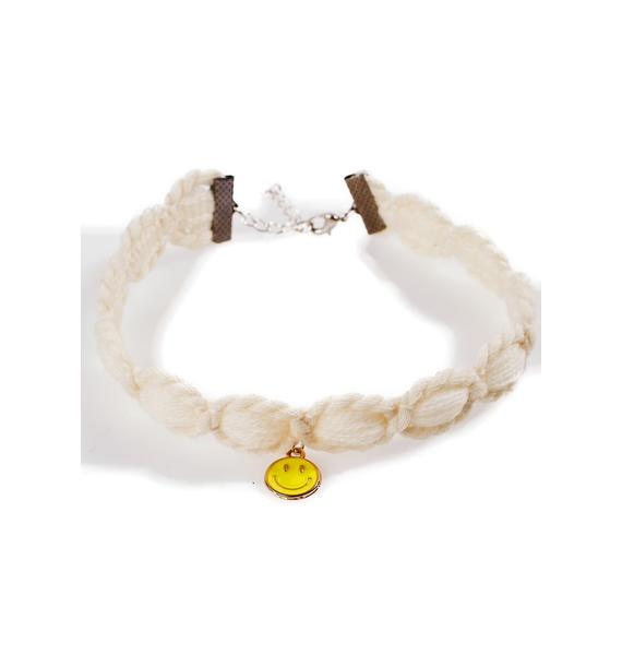 Camp Collection Smiley Knit Choker