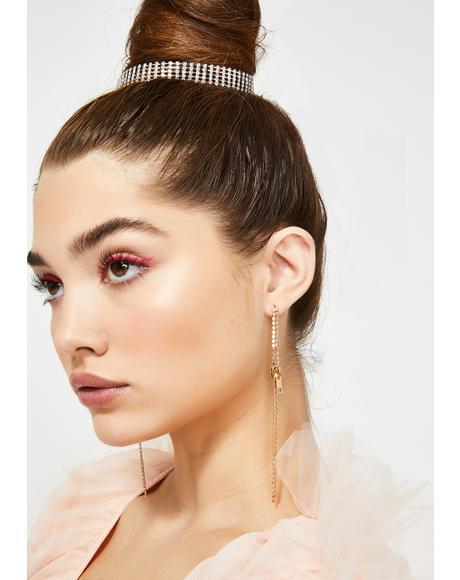 Stay Fly Zipper Earrings