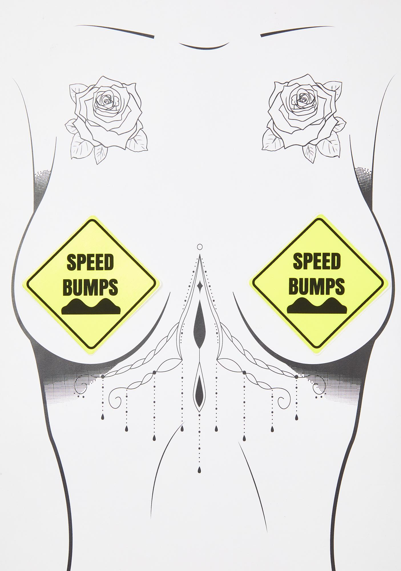 Neva Nude Yellow UV Speed Bump Pasties