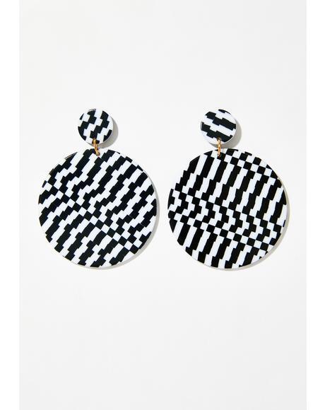 Full Circle Checkered Earrings