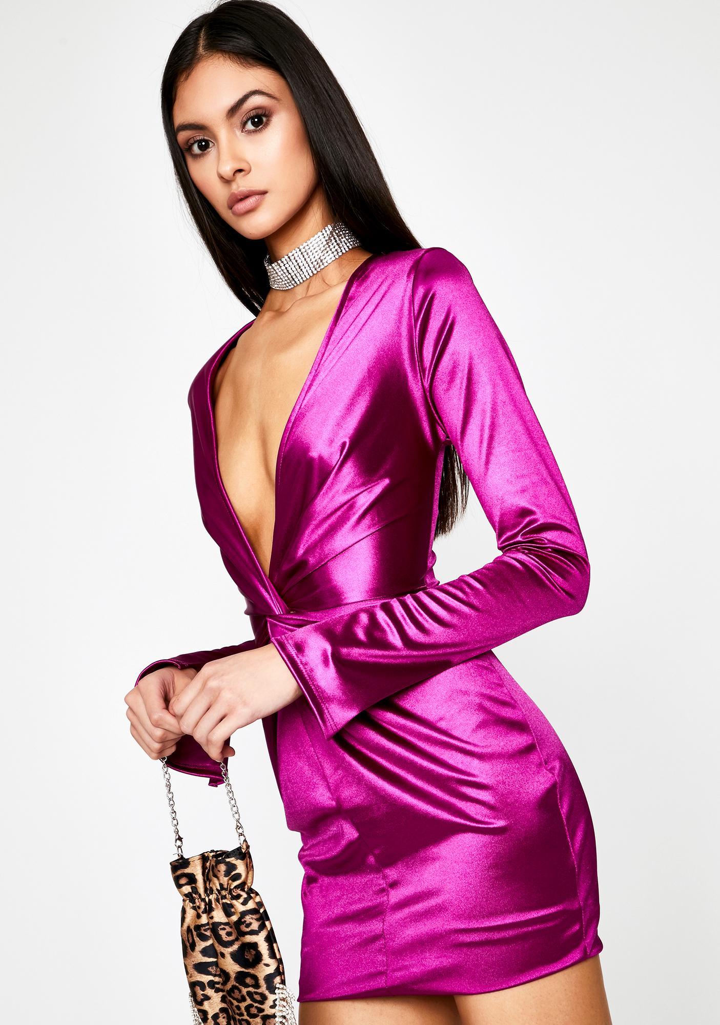 Champagne Toast Satin Dress