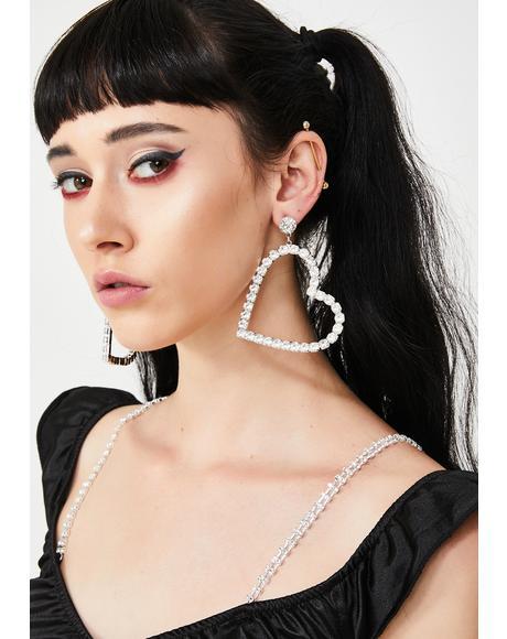 Full Time Lover Rhinestone Earrings