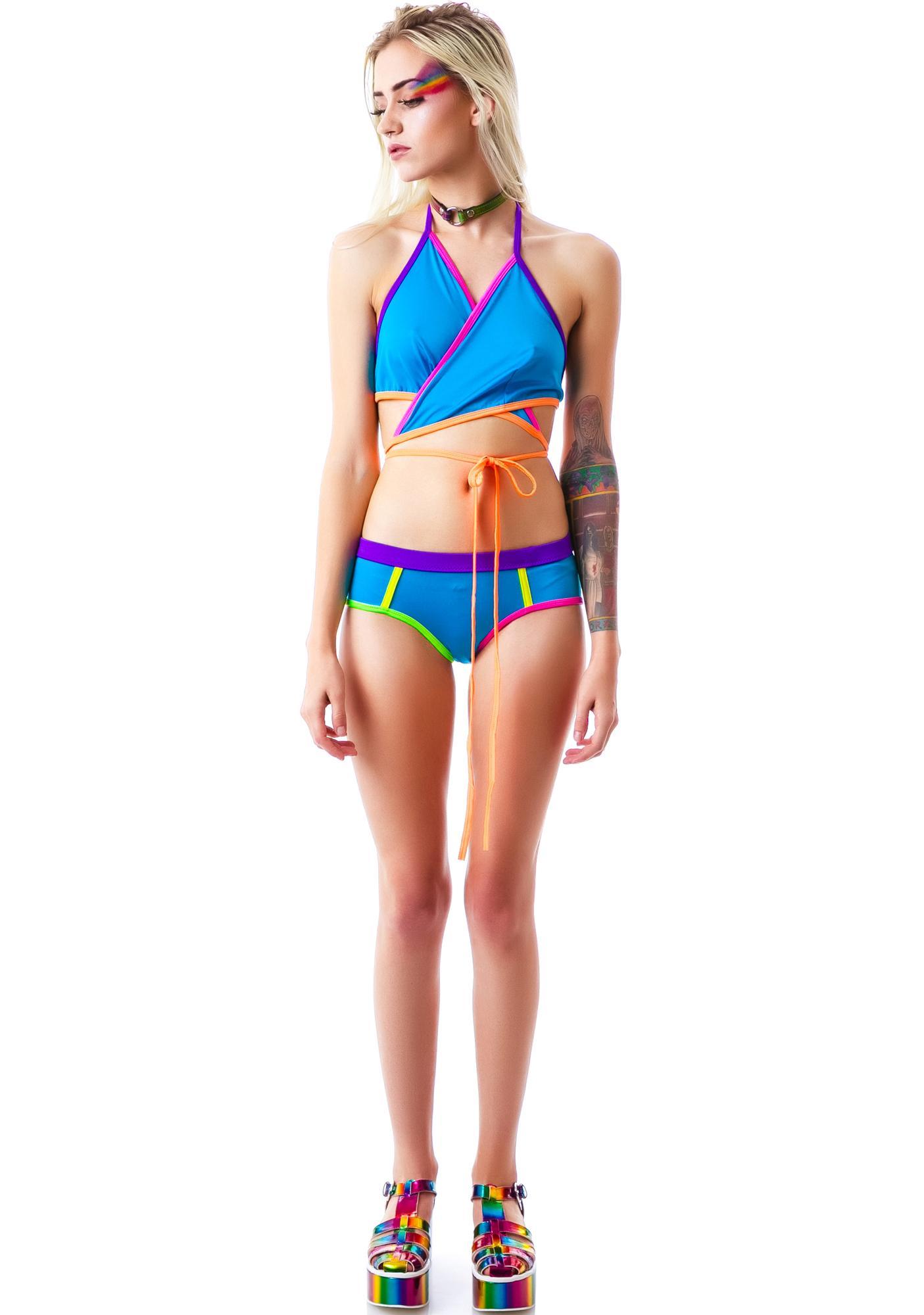 Princess Lolly Halter Top Bikini Set