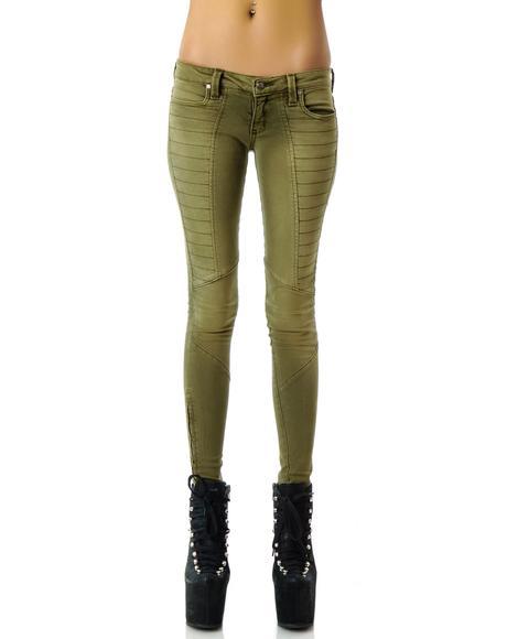 Skinny Zip Motocross Jeans