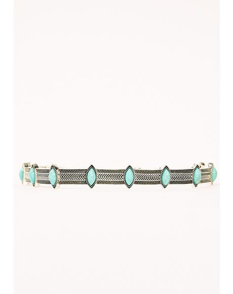 Telling Truths Turquoise Choker