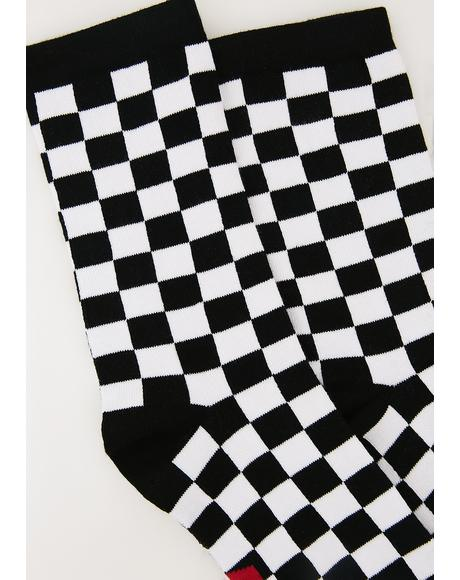 Fuck You Checkered Socks
