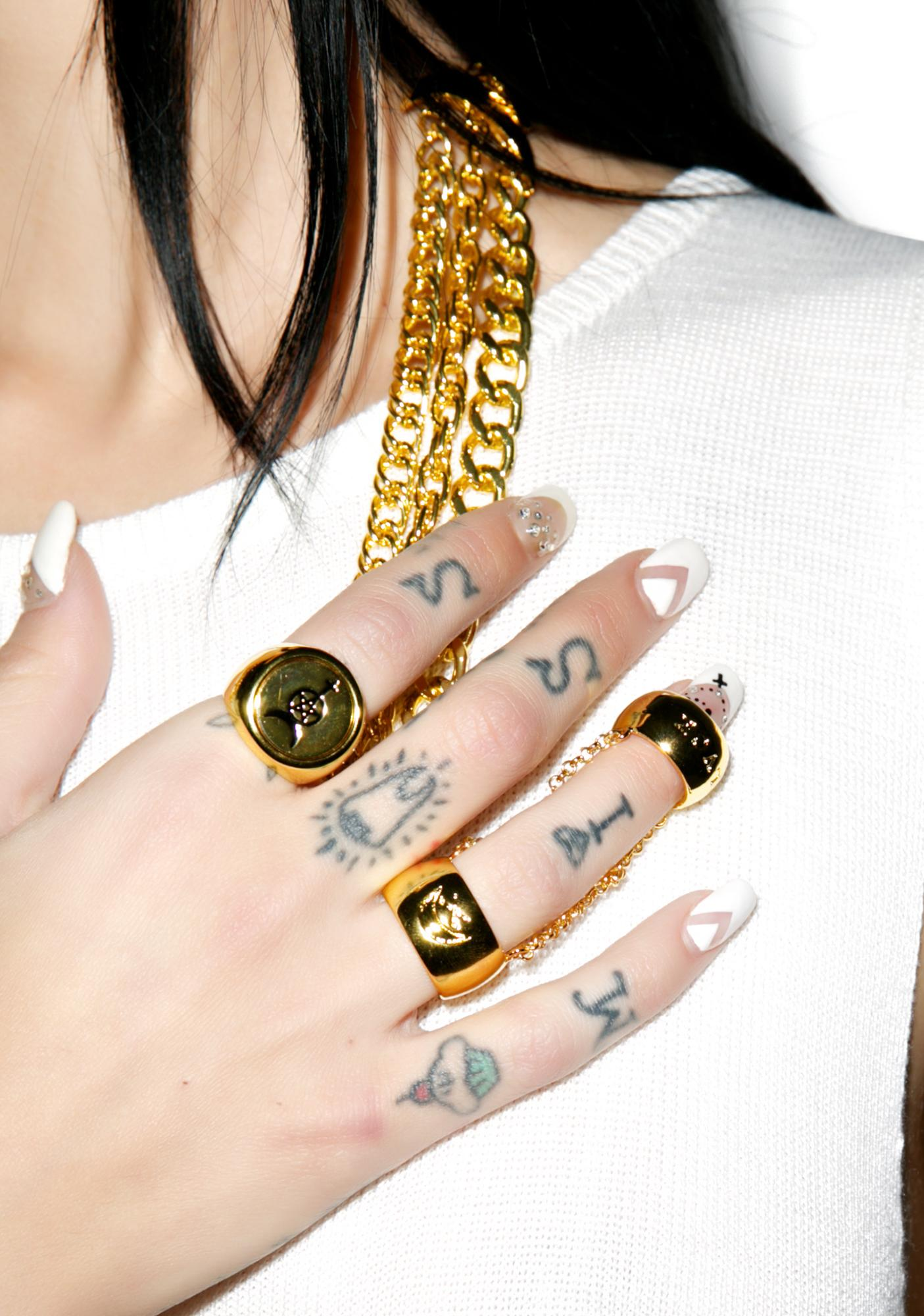 Black Scale Love Slave Ring