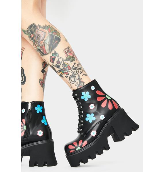 Lamoda Free Spirit Flower Ankle Boots