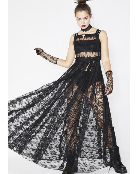 Nocturnal Enchantress Maxi Dress