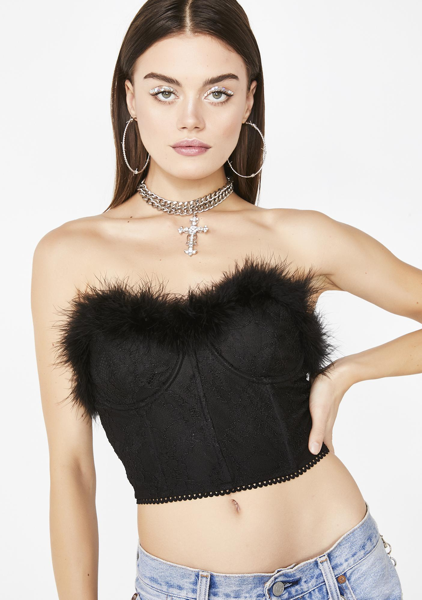 f410651f7f Night Fatal Attraction Feather Bustier