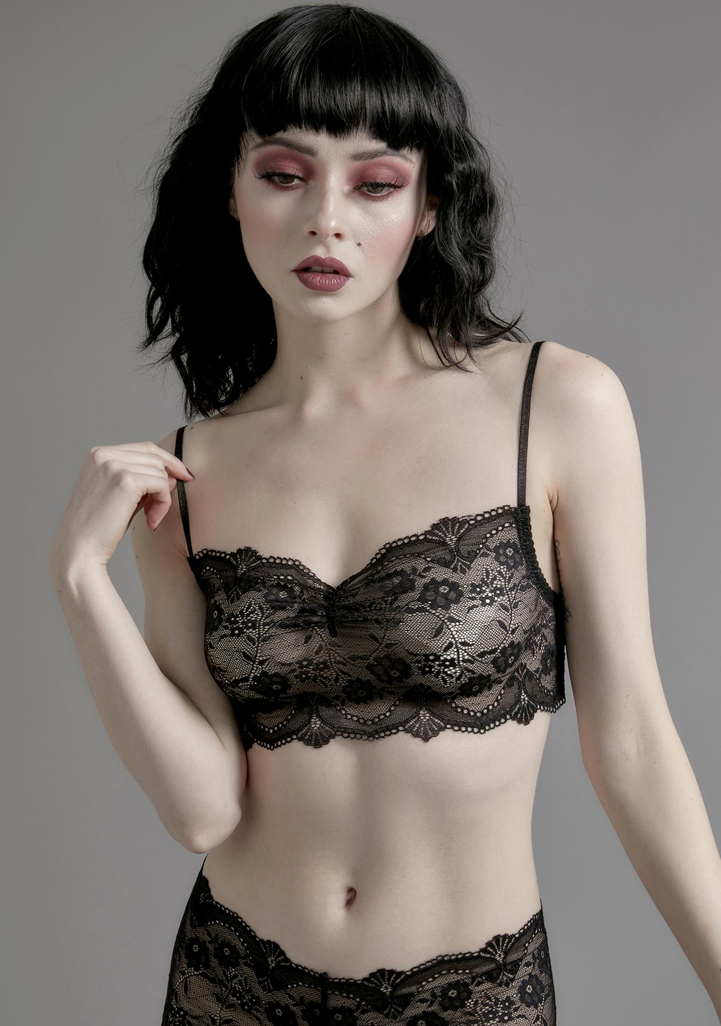 Widow Horribly Ever After Lace Bralette