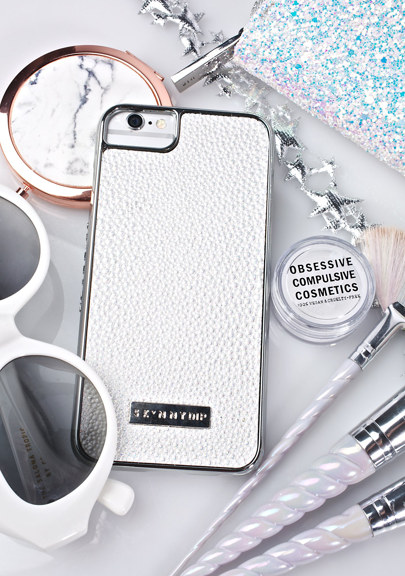 Skinnydip White Shimmer iPhone Case