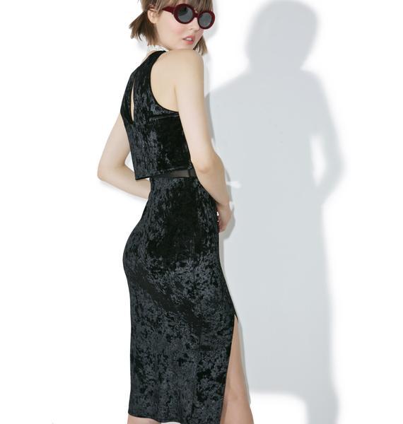 Bijou Velvet Midi Dress