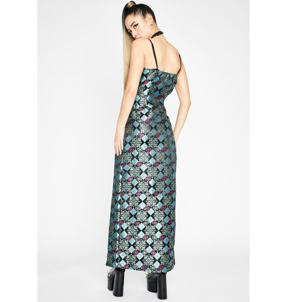 Dark Sleepless Town Maxi Dress
