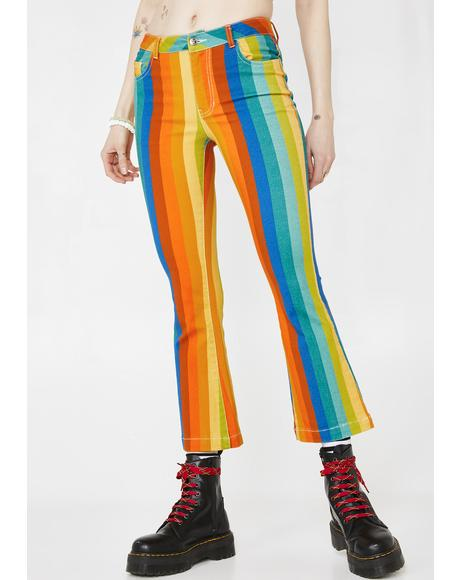 Candy Kaleidoscope Flare Pants