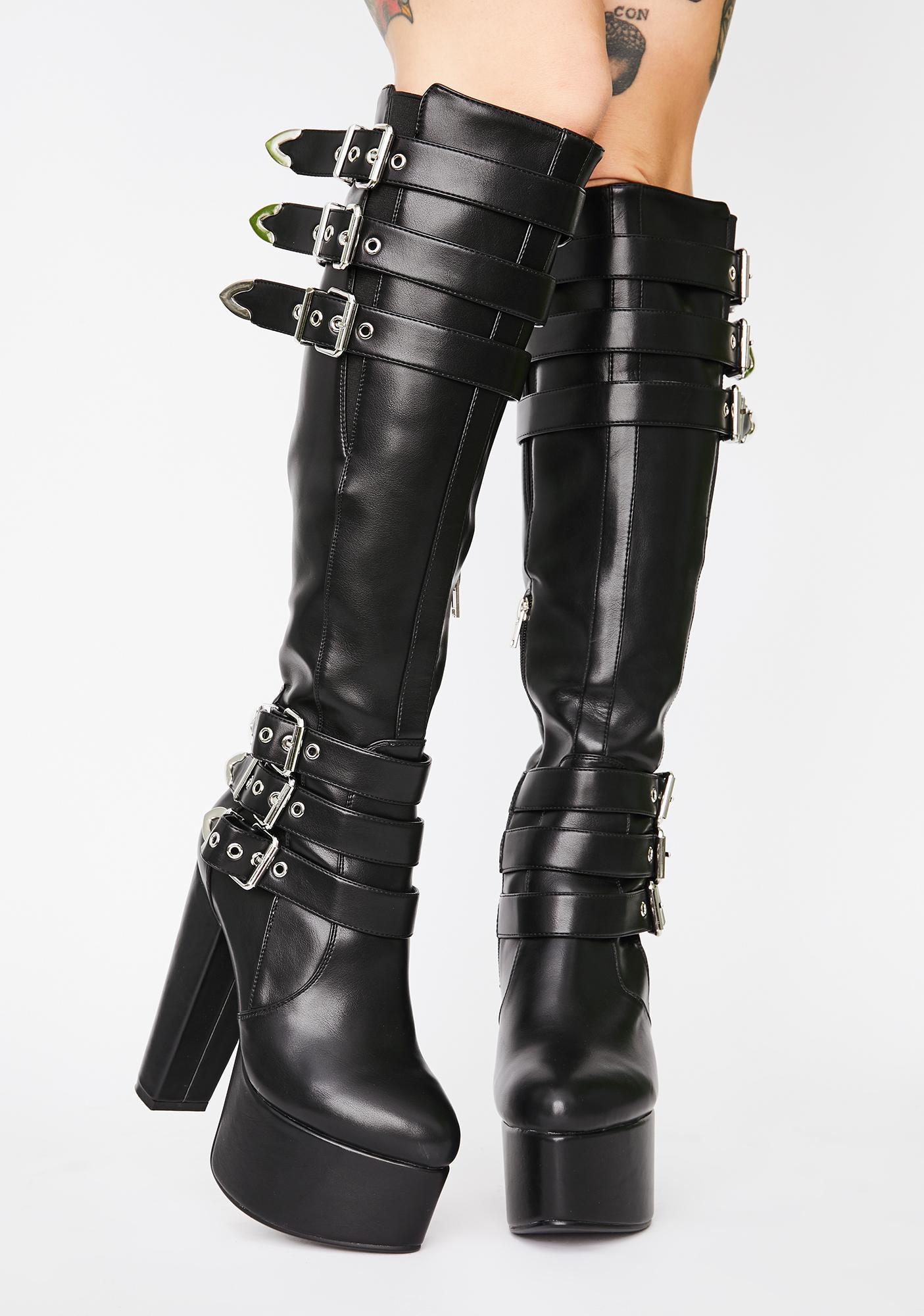 Lamoda Set Back Platform Boots