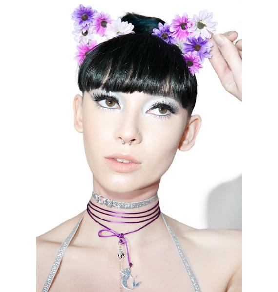 BrittsBlossoms Purple Floral Kitty Ears