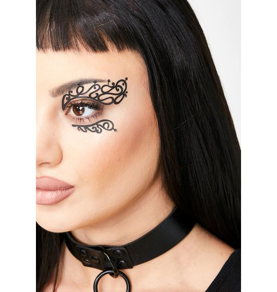 Face Lace Mini Swirly Queue Face Masks