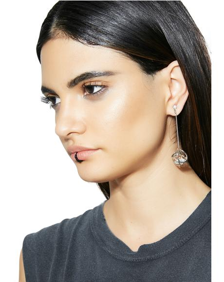 Cut Corners Drop Earrings