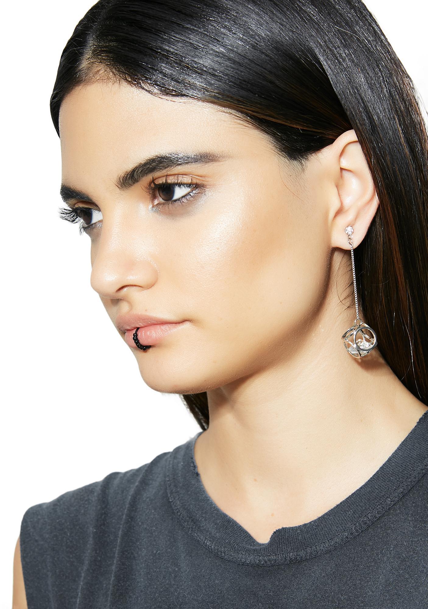Cut Corners Drop Earrings