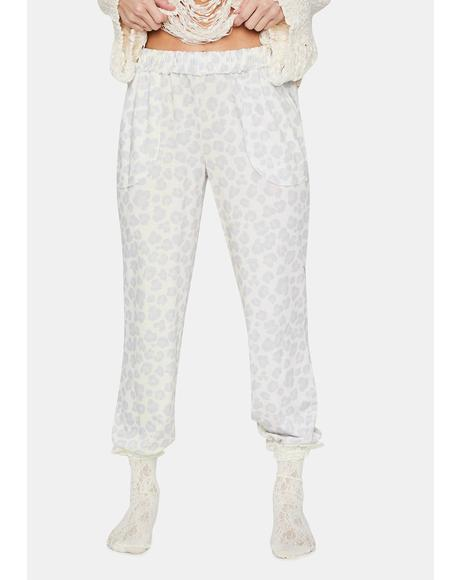 Kiss Goodnight Leopard Print Sweatpants