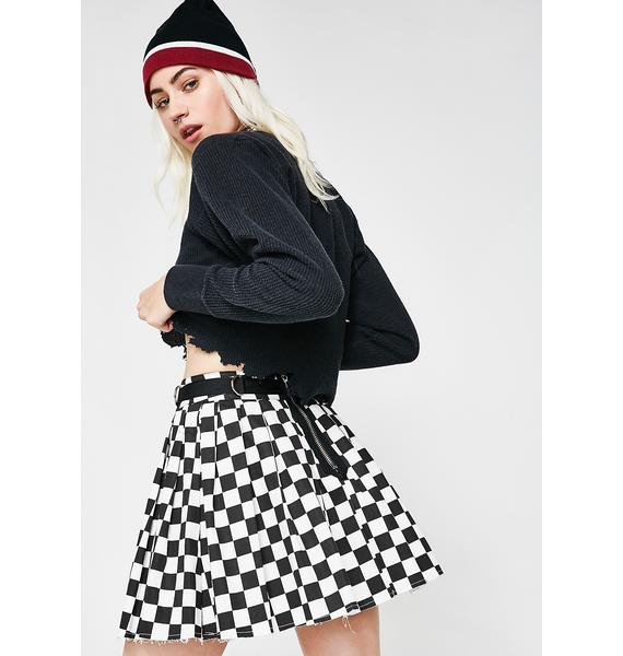 Current Mood Fast N' Furious Checkered Skirt