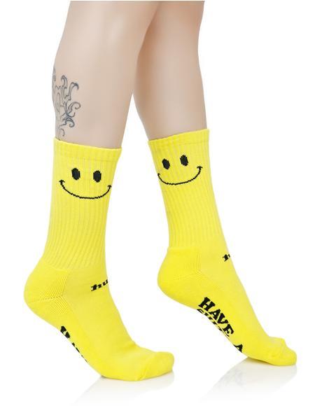 Smiley Crew Sock