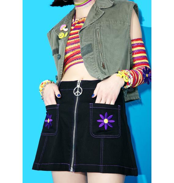 Current Mood Aster Go-Go Skirt