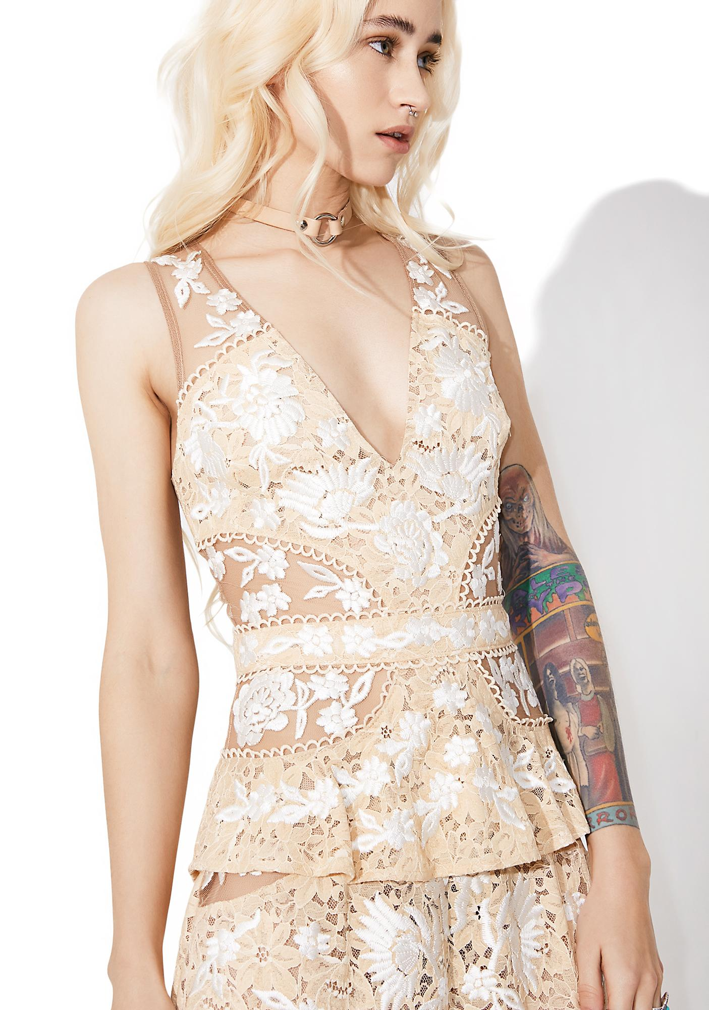 For Love & Lemons Mallorca Embroidery Maxi Dress