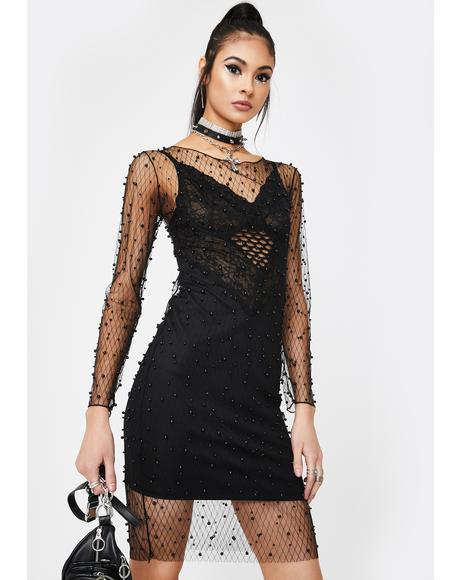 Crash Into Me Fishnet Dress