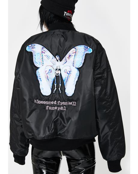 Blossomed From Hell Bomber Jacket