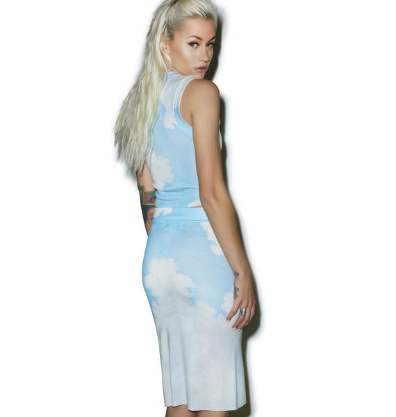 Wildfox Couture Stairway To Heaven Skipper Skirt